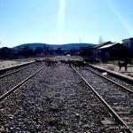 Vías de la estación de Robregordo