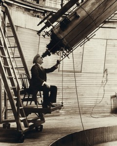 Percival Lowell en su observatorio en Flagstaff, Arizona