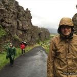 Þingvellir bajo la lluvia