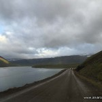 Pista de tierra junto al Álftafjörður