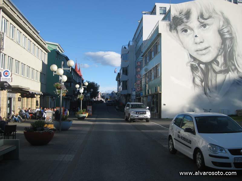 Calle Hafnarstræti de Akureyri