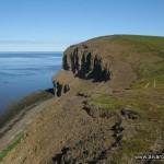 Acantilados sobre la bahía Skjálfandi