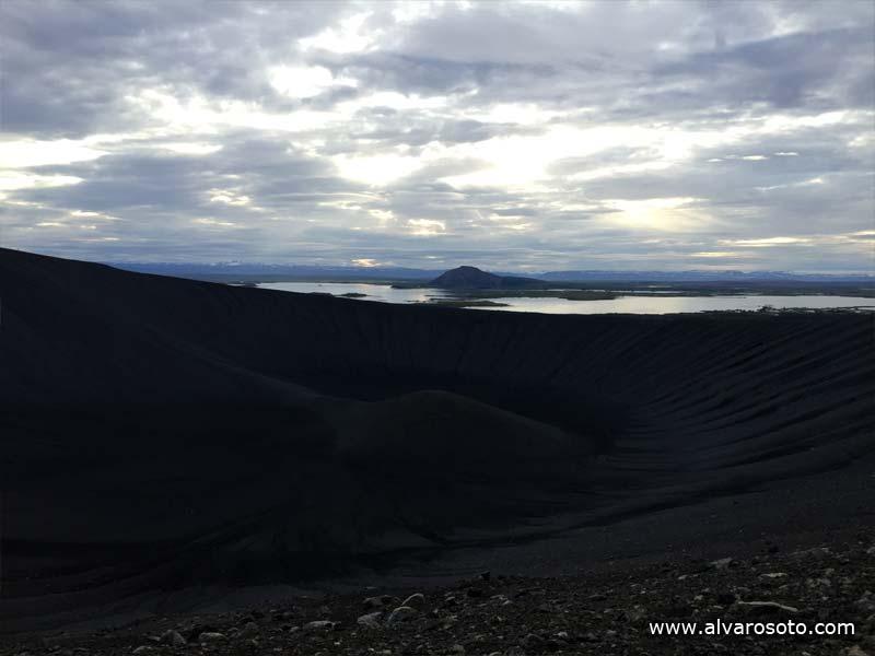 Cráter del volcán Hverfell