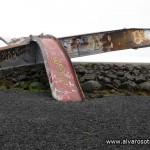 Recuerdo de la gran riada que derribó el puente del Monumento a la gran riada del uente sobre el Skeiðará