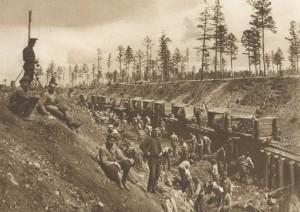 Prisoneros rusos en la construcción del BAM