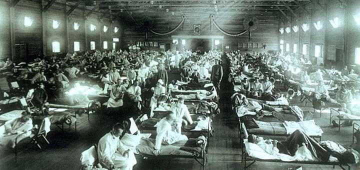 Hospital improvisado en Kansas