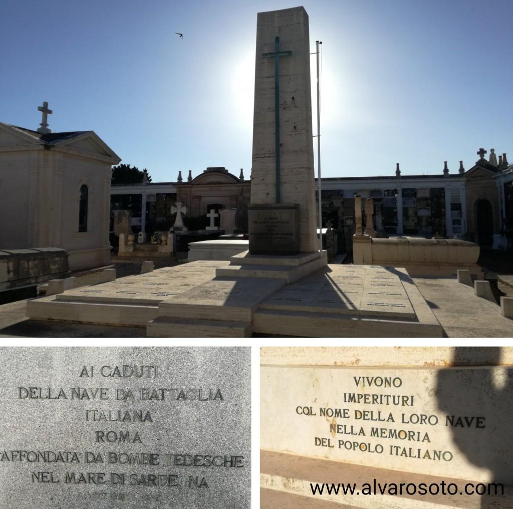 Panteón del Roma en el cementerio de Mahón